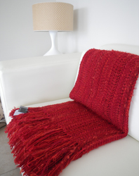 handwoven wool, mohair, soft, textured sofa throw